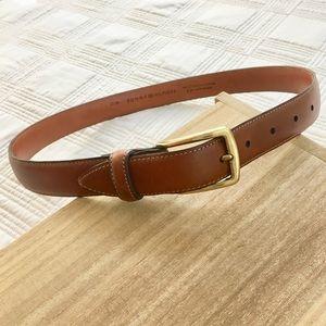 Tommy Hilfiger Brown Leather Belt Size 32/80